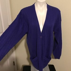 The limited large royal blue cardigan